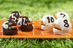 "From Nabisco: ""Get your head in the game and try out these tasty OREO Cookie Ball Football Helmets."""