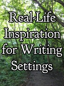 take inspiration from real-life places, every great writer has....seriously Tolkien, Rowling, Lewis....