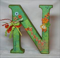 Buchstabe / Letter - N - Nicole
