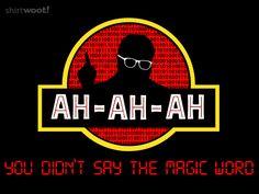 Access Denied - Jurassic Park shirt from Shirt Woot