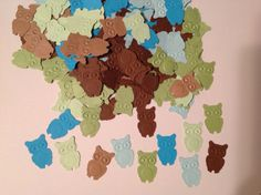 FREE SHIPPING 100 green blue and brown owl by jessicasue34 on Etsy, $6.00
