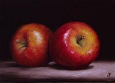 "Daily Paintworks - ""Braeburn Apples"" by Jane Palmer"