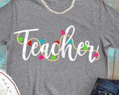 Teacher svg SvG teacher christmas svg teacher christmas svg gift ptincipal svg shirt SVG DXF EPS svgs shorts and lemons lights School Christmas Gifts, Christmas Svg, Christmas Shirts, Xmas Shirts, Winter Shirts, Christmas Sweaters, Teacher Outfits, Teacher Gifts, Teacher Wear