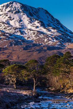 Torridon wilderness landscape in the Scottish Highlands.