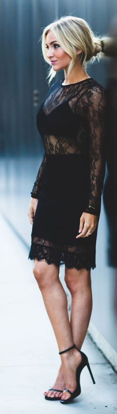 // Black Lace Dress | Angel Food Style //
