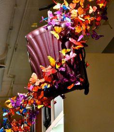 "Samsonite Soho ""Light as Air"" Butterfly Window Display 2011 by Dobbins"