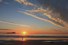 Sunrise behind Old Woman Island - Sunshine Coast - Australia