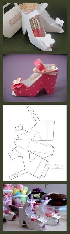 Maak je eigen schoen uit papier. De mogelijkheden zijn oneindig! Mix patronen en kleuren en voila...!