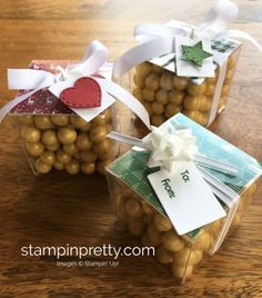 Tags & Trimmings Stamp Set & Trim Your Stockings Thinlits Treat Boxes. Read more https://stampinpretty.com/2017/09/pals-blog-hop-favorite-holiday-2.html