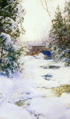 The Athenaeum - The Brook in Winter (Walter Launt Palmer - )