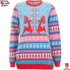 Dancing Stags Womens Christmas Sweater by British Christmas Jumpers LARGE 16 to 18 *** Visit the image link more details. (This is an affiliate link) Ladies Christmas Jumpers, Couples Christmas Sweaters, Couple Christmas, Womens Christmas Jumper, Cute Christmas Sweater, Xmas Jumpers, Christmas Knitting, Christmas Morning, British Christmas