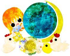 フリーのイラスト素材地球儀と女の子とニワトリ  Free Illustration The cute girl and chickens and a terrestrial globe   http://ift.tt/2hcLrcq