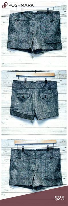 """Harve Bernard Shorts Black/white. Excellent pre-owned condition.  Like new. Approximate measurements laying flat: inseam 3.5"""", FR 9"""", BR 14"""", waist 29"""". Pockets in front and back. Zip/button closure. Harve Benard Shorts"""
