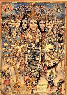 "The Universal form of Lord Krishna, virat rupa. ""Time I am, destroyer of… Krishna Leela, Krishna Love, Krishna Art, Lord Krishna, Saraswati Goddess, Shiva Shakti, Krishna Pictures, Krishna Images, Indian Gods"