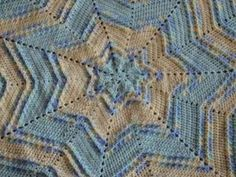 Image of Textured Star Baby Afghan Crochet Pattern PDF 017