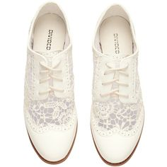 H&M Brogues (€14) ❤ liked on Polyvore featuring shoes, oxfords, flats, wingtip oxfords, rubber sole shoes, brogue oxford, flat shoes and oxford shoes flats