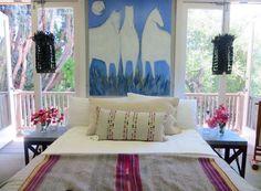 Upstairs at Pierre Lafond - Coral & Tusk Chevron lumbar pillow