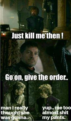 Game of thrones season 7 funny humour meme, Jaime Lannister, Tyrion Lannister, Cersei Lannister, Nikolaj Coster-Waldau, Peter Dinklage