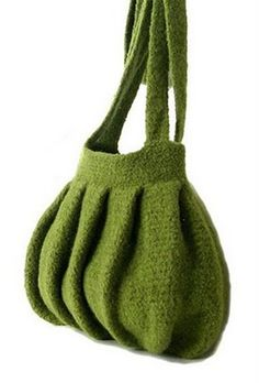 Now that's style!! Love it! Felted crochet bag.