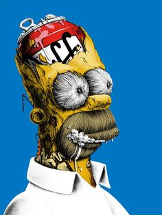 """Homer Simpson Tribute Art from PEZ - """"D'oh!"""" — GeekTyrant"""