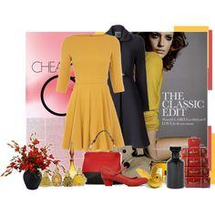 Love the dress & coat!
