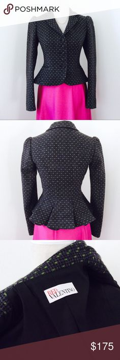 💙 Stunning Peplum Bottom RED Valentino Jacket Excellent condition/ made in Italy RED Valentino Jackets & Coats Blazers