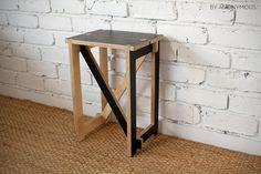 Plywood Flat Pack Stool - Black. $140.00, via Etsy.
