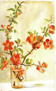 Georgia O'Keeffe, Untitled (Vase of Flowers), 1903/1905, Watercolor on Paper