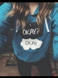 the fault in our stars • hoodie • okay? okay. • john green • sweatshirt • tumblr fashion • teen style • cute clothes • outfit