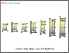 Couplings: FlexiLock Flange Adapter to Autocad, All Block, Cad Blocks, Data Sheets, Names, The Unit, 3d, Type