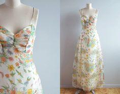 Vintage 1970s Prom Dress