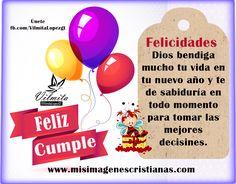 Imágenes Cristianas De Feliz Cumpleaños   Dios Te Bendiga En Tu Dìa Feliz