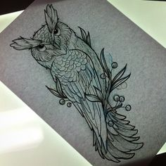 neo traditional owl tattoo flash - Google Search