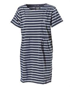 Hanna Dress navy/white
