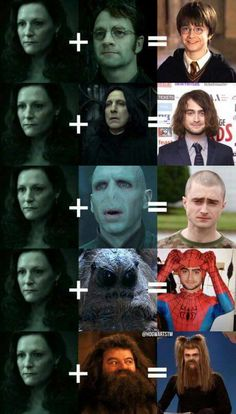 "This is so strange.. How can be Voldemort and Lily?! :)<<< repinning for one of the tries ""spider man? You mean SPIDER DAN?"""