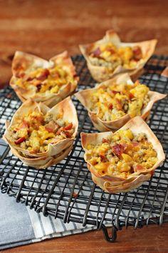 Breakfast Bites, Savory Breakfast, Healthy Breakfast Recipes, Healthy Recipes, Healthy Breakfasts, Breakfast Sausage Seasoning, Sausage Breakfast, Wonton Recipes, Ww Recipes