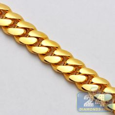 10K Yellow Gold Miami Cuban Link Mens Chain 30 Inches 11 mm