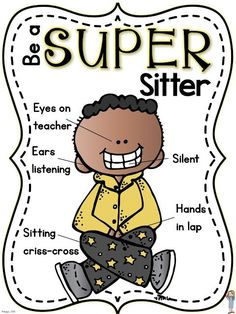Super Sitter (free poster + back-to-school procedures)