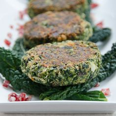 Dinner is just minutes away: Spinach & White Bean Burgers.
