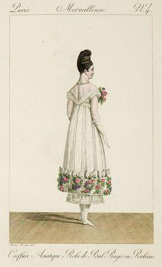 Such a low back, love, love, love! published in Incroyables et merveilleuses de 1814