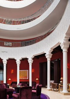 Lobby at the Delano in Marrakesh designed by Jacques Garcia