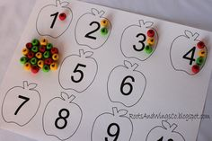 Fall craft, number recognition