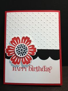 Mixed Bouquet Quick Card  Stampin' Up! Rubber Stamps