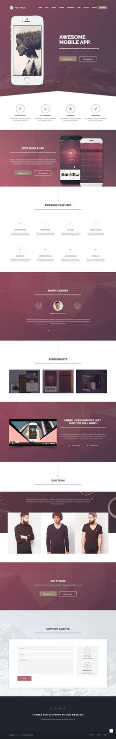 Fantasic – Multipurpose Landing Page Template is a responsive, clean and modern designed HTML5 template for landing pages. #landingpage #bootstrapthemes #marketing #startups