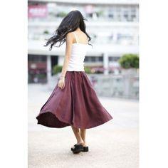 Comfortable Deep Red Elastic Waist Skirt For Autumn - NC168 Comfortable Wine Red Elastic Waist Skirt For Autumn - NC168 [NC168] - $74.99 : Sara Steven