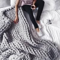 Extreme Chunky Knitted Blanket