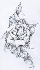 Image result for black and white rose shoulder tattoos for women