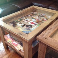 This is a coffeeshadow box table that i built using an antique
