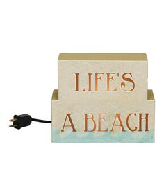 Take a look at this Primitives by Kathy 'Life's a Beach' Light Box by Color Trends: Bold Blue on #zulily today!