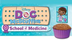Doc's School of Medicine muffin decoration tops #DocMcStuffins